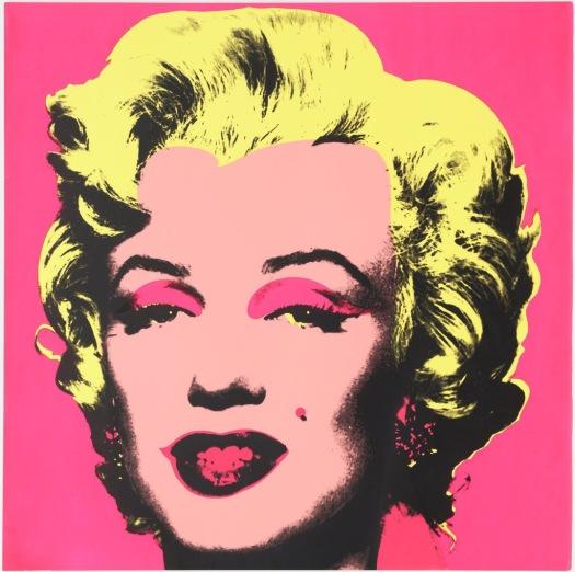 Pink Andy Warhol Marilyn Monroe print