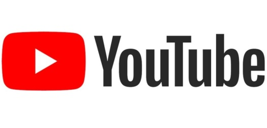 YouTube logo with red tube and white play button