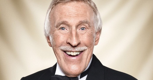 Bruce Forsyth smiling