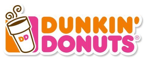 Dunkin' Donuts pink and orange logo
