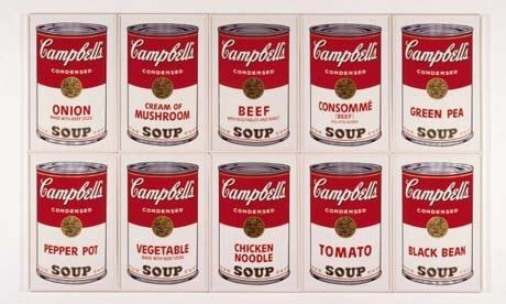 Prints of Campbell's tins of soup by Andy Warhol