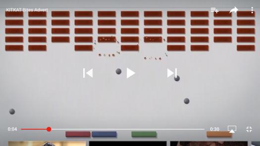 Kit Kat bars depicting the breakout game