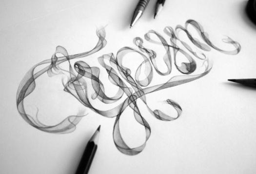 Agus Suryanto Hand Drawn Type smoke type