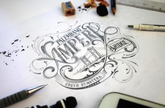 Agus Suryanto Hand Drawn Type logo design