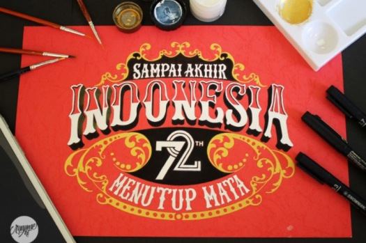Agus Suryanto Hand Drawn Type saying indonesia 72