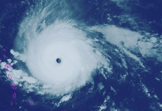 Hurricane Irma satellite view