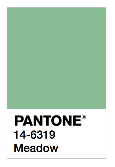 Pantone swatch Meadow